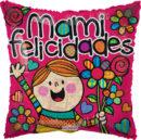 """MAMI FELICIDADES Metalizado 9"""""""