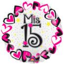 """MIS 15 AÑOS Metalizado 18"""""""