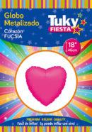 CORAZON Metalizado 18″ | Fucsia x 5 Unidades