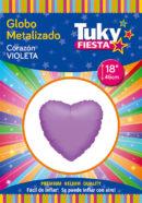 CORAZON Metalizado 18″ | Violeta x 5 Unidades