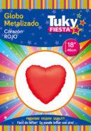 CORAZON Metalizado 18″ | Rojo x 5 Unidades