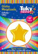 ESTRELLA Metalizada 18″ | Oro x 5 Unidades