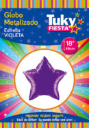 "ESTRELLA Metalizada 18"" | Violeta x 5 Unidades"