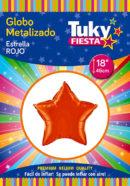 "ESTRELLA Metalizada 18"" | Rojo x 5 Unidades"
