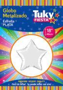 ESTRELLA Metalizada 18″ | Plata x 5 Unidades