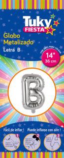 """14"""" LETRA B – Metalizado x 5 Unidades"""