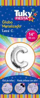 """14"""" LETRA C – Metalizado x 5 Unidades"""