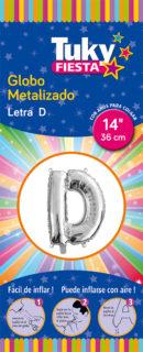 "14"" LETRA D – Metalizado x 5 Unidades"