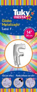 """14"""" LETRA F – Metalizado x 5 Unidades"""