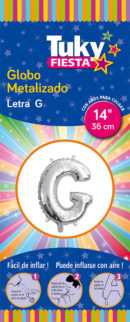 "14"" LETRA G – Metalizado x 5 Unidades"