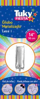 """14"""" LETRA I – Metalizado  x 5 Unidades"""