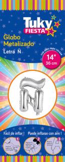 "14"" LETRA Ñ – Metalizado x 5 Unidades"