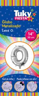 "14"" LETRA O – Metalizado x 5 Unidades"