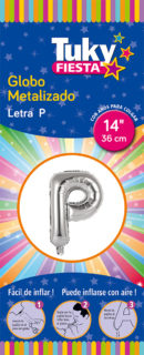 """14"""" LETRA P – Metalizado x 5 Unidades"""