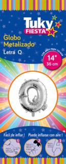 "14"" LETRA Q – Metalizado x 5 Unidades"
