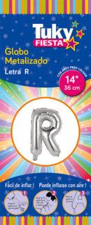 """14"""" LETRA R – Metalizado 5 Unidades"""