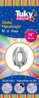 """14"""" Numero 0 – Metalizado x 5 Unidades"""