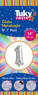 """14"""" Numero 1 – Metalizado x 5 Unidades"""