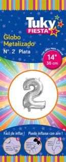 """14"""" Numero 2 – Metalizado x 5 Unidades"""