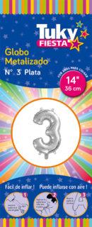 """14"""" Numero 3 – Metalizado x 5 Unidades"""