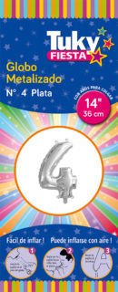 """14"""" Numero 4 – Metalizado x 5 Unidades"""