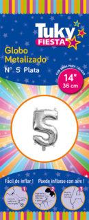 """14"""" Numero 5 – Metalizado x 5 Unidades"""