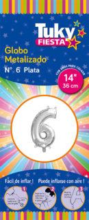 """14"""" Numero 6 – Metalizado x 5 Unidades"""