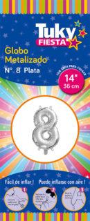 """14"""" Numero 8 – Metalizado x 5 Unidades"""