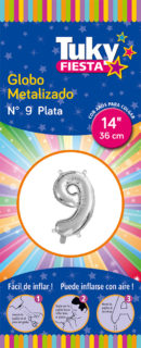 """14"""" Numero 9 – Metalizado x 5 Unidades"""