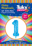 "34"" 1 Año CELESTE – Metalizado x 5 Unidades"