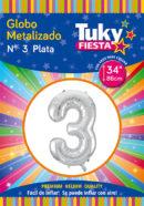 """34"""" Numero 3 – Metalizado x 5 Unidades"""