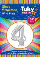 """34"""" Numero 4 – Metalizado x 5 Unidades"""