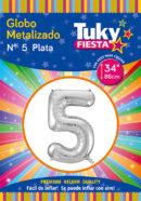 """34"""" Numero 5 – Metalizado x 5 Unidades"""