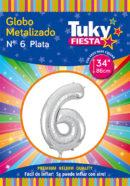 """34"""" Numero 6 – Metalizado x 5 Unidades"""