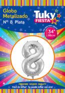 """34"""" Numero 8 – Metalizado x 5 Unidades"""