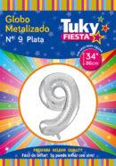 """34"""" Numero 9 – Metalizado x 5 Unidades"""