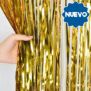 Cortina Metalizada Oro 2x1mts