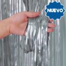 Cortina Metalizada Plata 2x1mts