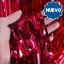 Cortina Metalizada Rojo 2x1mts