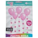 SET Cortinas Pastel Rosa