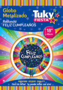 Redondo Metalizado 18″|Feliz cumpleaños Tuky Metalizado x 5 u.