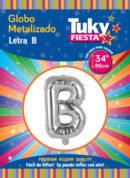 """34"""" LETRA B – Metalizado x 5 Unidades"""