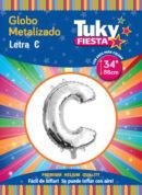 """34"""" LETRA C – Metalizado x 5 Unidades"""
