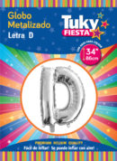 "34"" LETRA D – Metalizado x 5 Unidades"