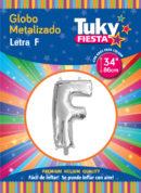 """34"""" LETRA F – Metalizado x 5 Unidades"""