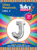 """34"""" LETRA J – Metalizado x 5 Unidades"""