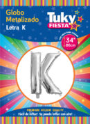 """34"""" LETRA K – Metalizado x 5 Unidades"""