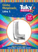 """34"""" LETRA L – Metalizado x 5 Unidades"""