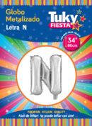 """34"""" LETRA N – Metalizado x 5 Unidades"""