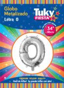 "34"" LETRA O – Metalizado x 5 Unidades"
